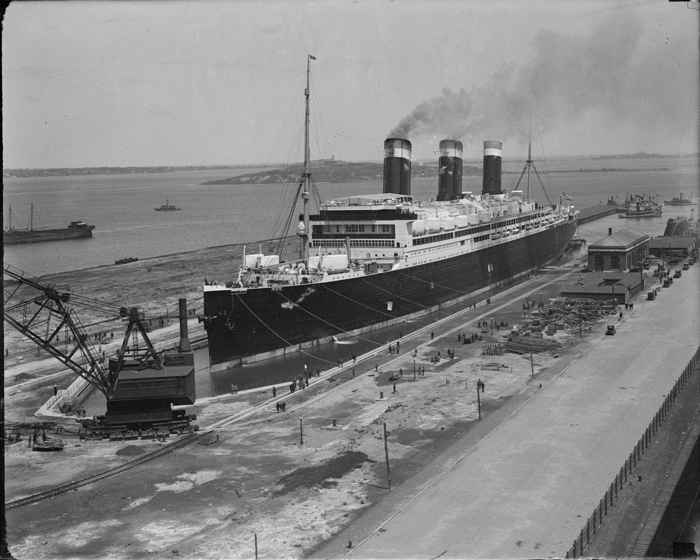 SS Leviathan in dry dock at South Boston