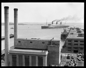 USS Leviathan entering Boston Harbor