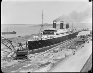 SS Leviathan in South Boston dry dock