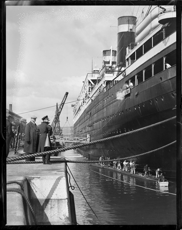 SS Leviathan in South Boston drydock