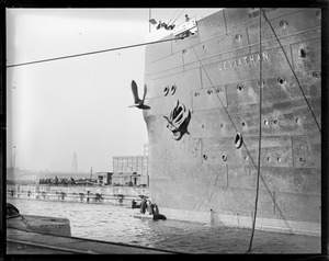 SS Leviathan drydocking - South Boston