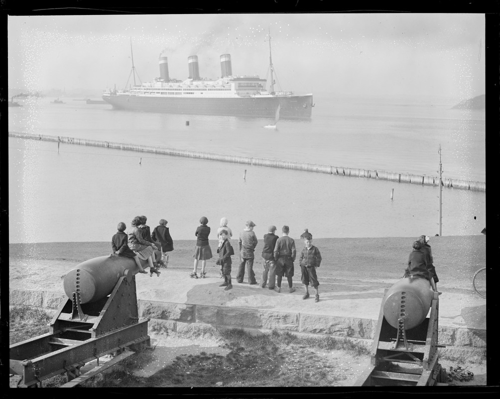 USS Leviathan from Fort Independence, Castle Island