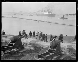 USS Leviathan from Castle Island Fort Independence Boston Harbor