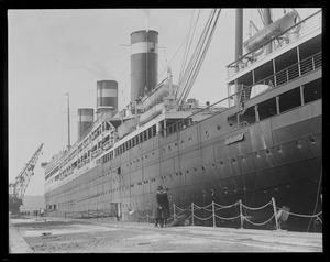 SS Leviathan in dry dock in South Boston