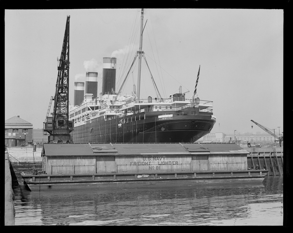 SS Leviathan leaving dry dock for trial run