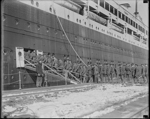 US troops boarding Leviathan