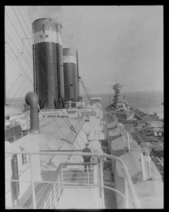 SS Leviathan - USS Colorado in background
