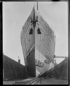 SS Leviathan in drydock