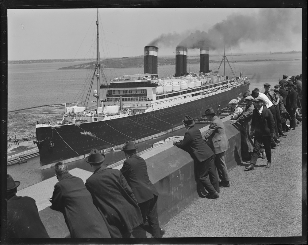 People come for miles, eager to see SS Leviathan
