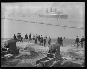 SS Leviathan in Harbor from Fort Independence, Castle Island