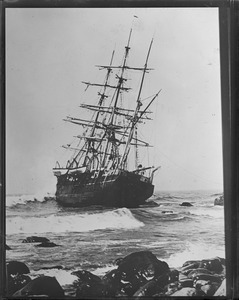 Last of the famous whaling fleet Wanderer wrecked off Cuttyhunk, Nantucket