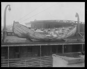 Crushed lifeboat from SS Fairfax