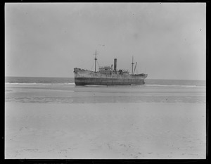 British Steamer Competitor runs aground near Naucet Beach, Chatham, Cape Cod
