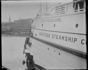 Eastern Steamship's City of Rockland in Boston after accident