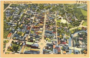Aerial view of Chambersburg, Pa.