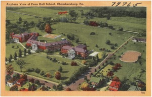 Airplane view of Penn Hall School, Chambersburg, Pa.