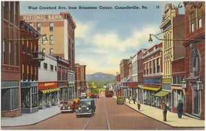 West Crawford Ave. from Brimstone Corner, Connellsville, Pa.