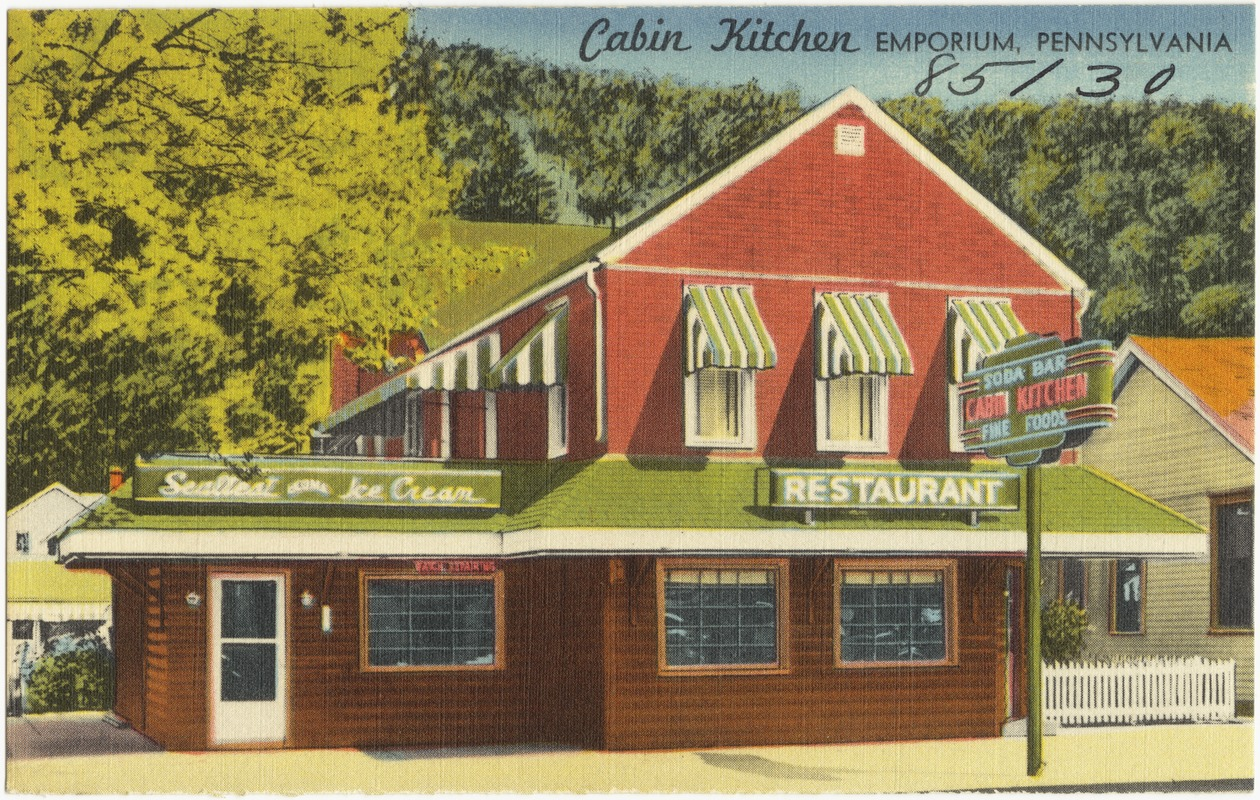 Cabin Kitchen, Emporium, Pennsylvania