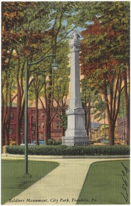 Soldiers Monument, City Park, Franklin, Pa.