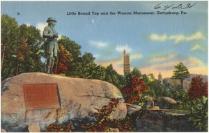 Little Round Top and the Warren Monument, Gettysburg, Pa.