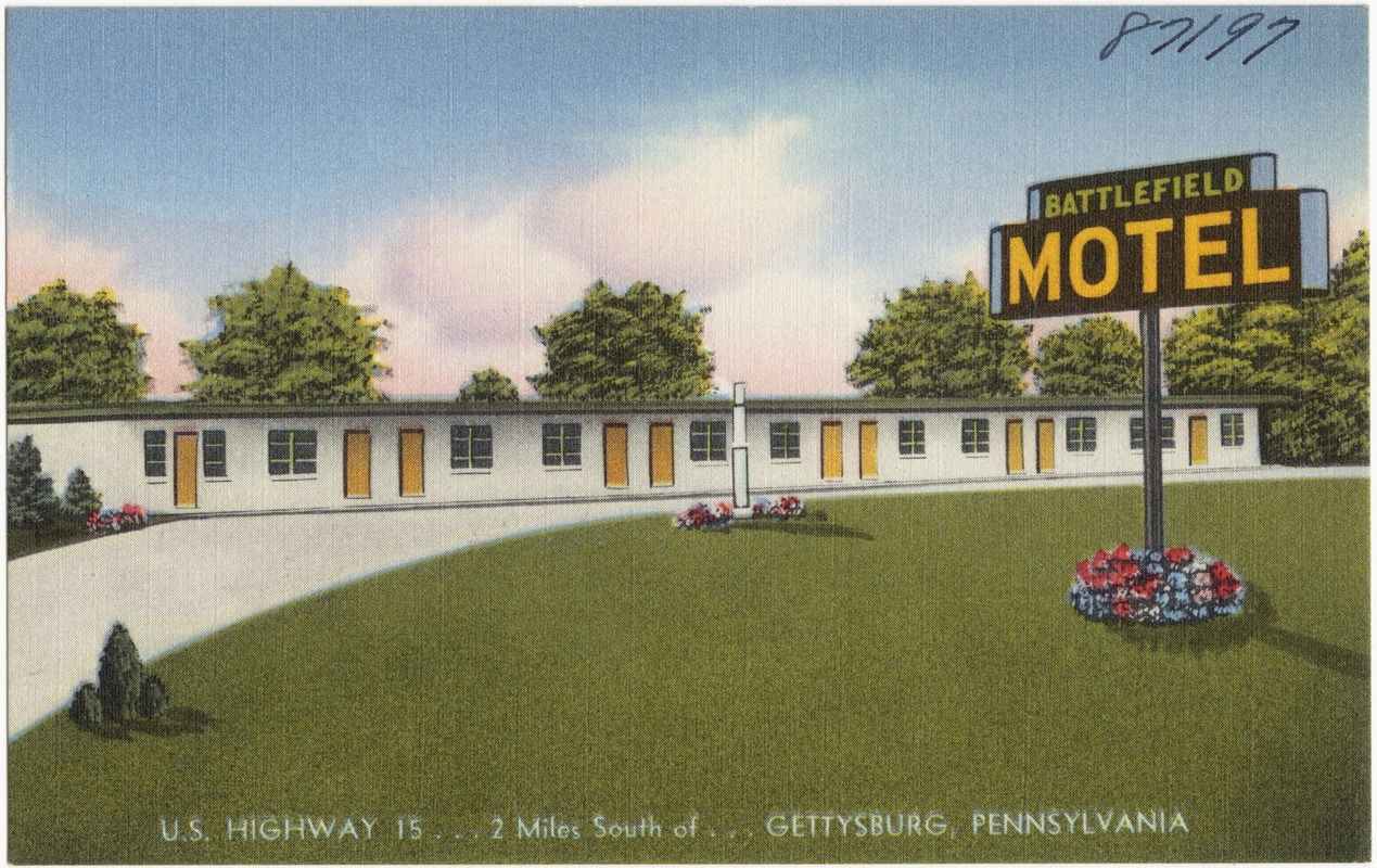 Battlefield Motel U S Highway 15 2 Miles South Of Gettysburg Pennsylvania