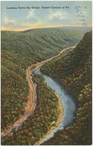 Looking down the gorge, Grand Canyon of Pa.