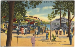 Amusement Park at Harvey's Lake, Pennsylvania