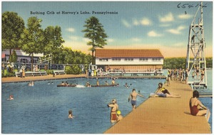 Bathing Crib at Harvey's Lake, Pennsylvania