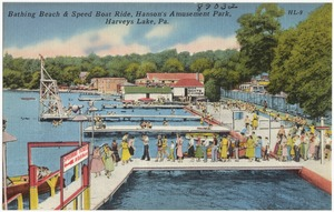 Bathing Beach & Speed Boat Ride, Hanson's Amusement Park, Harvey's Lake