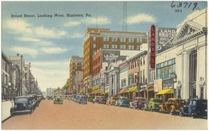 Broad Street, looking west, Hazelton, Pa.