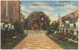 Grotto of Most Precious Blood Church, Hazelton, Pa.