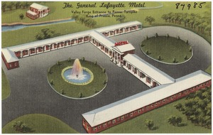 The General Lafayette Motel, Valley Forge entrance to Penna. Turnpike, King of Prussia, Penna.