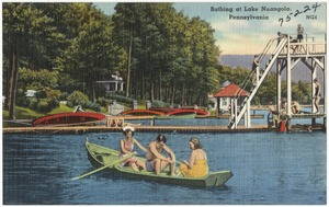 Bathing at Lake Nuangola, Pennsylvania