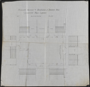 Leicester Public Library Architectural Drawings c. 1895