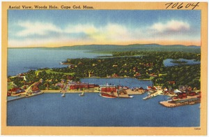Aerial view, Woods Hole, Cape Cod, Mass.