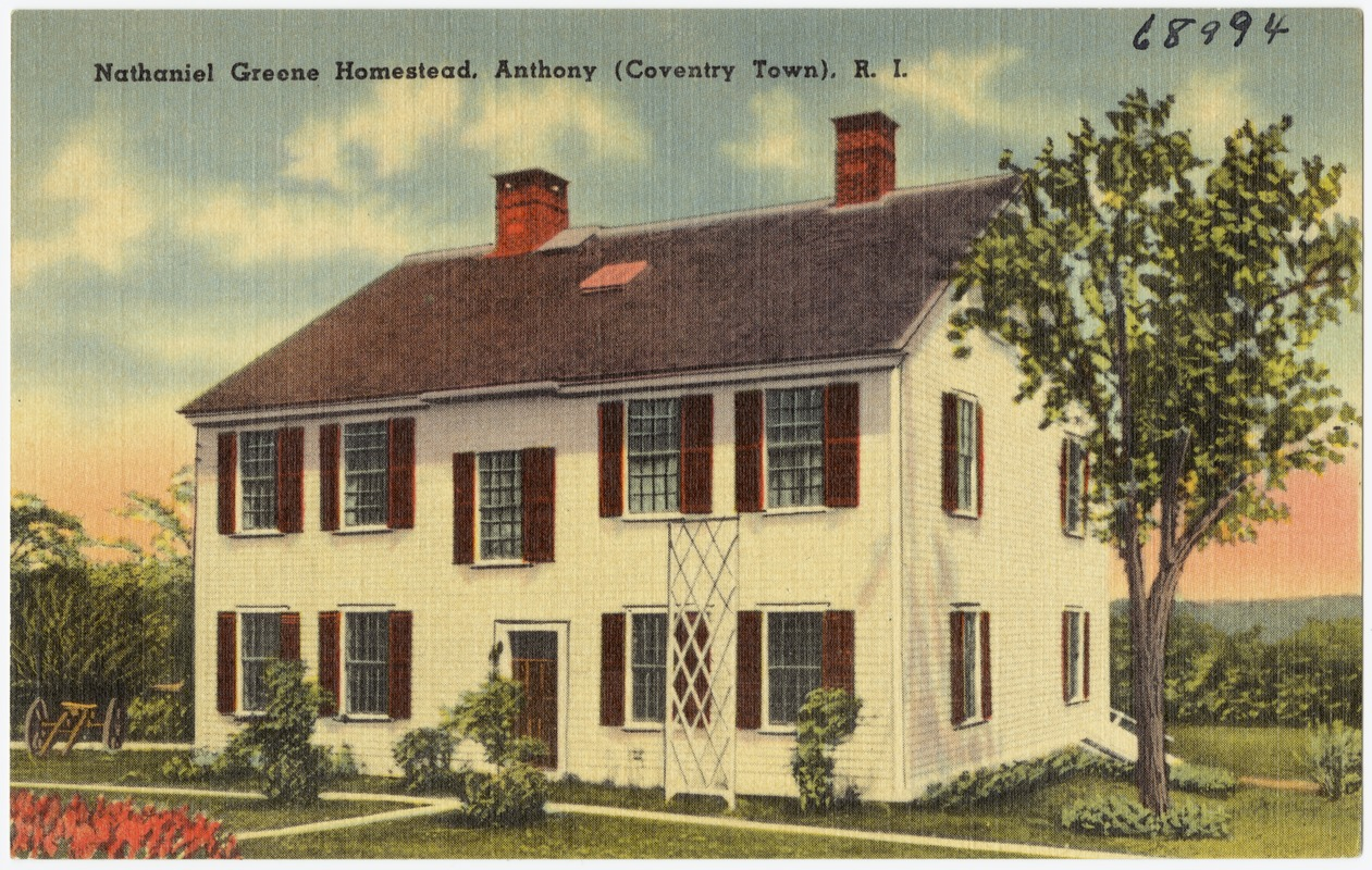 nathaniel greene homestead anthony coventry town r i digital