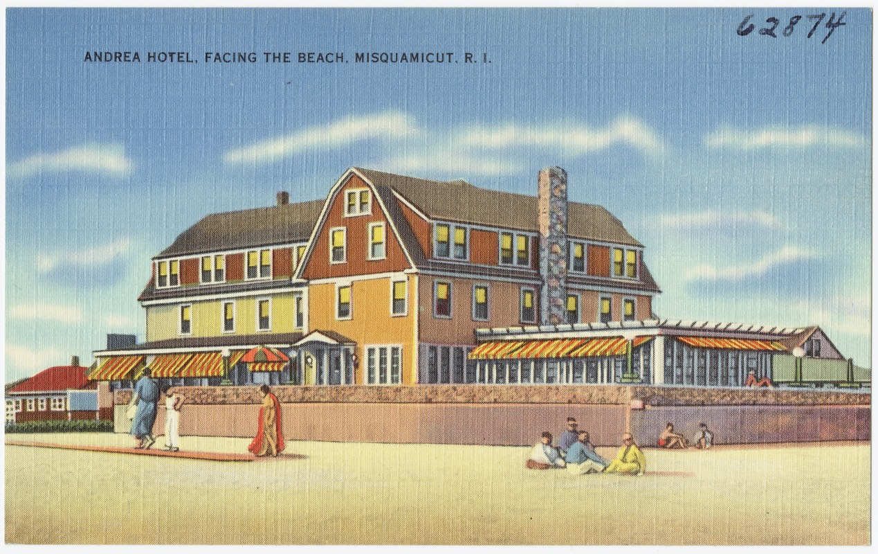 Andrea Hotel Facing The Beach Misquamicut R I