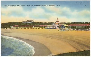 Bailey's Beach, exclusively for the summer residents, Newport, R.I.
