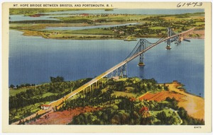 Mt. Hope Bridge between Bristol and Portsmouth, R.I.