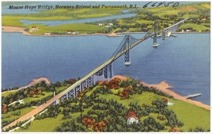 Mount Hope Bridge between Bristol and Portsmouth, R.I.