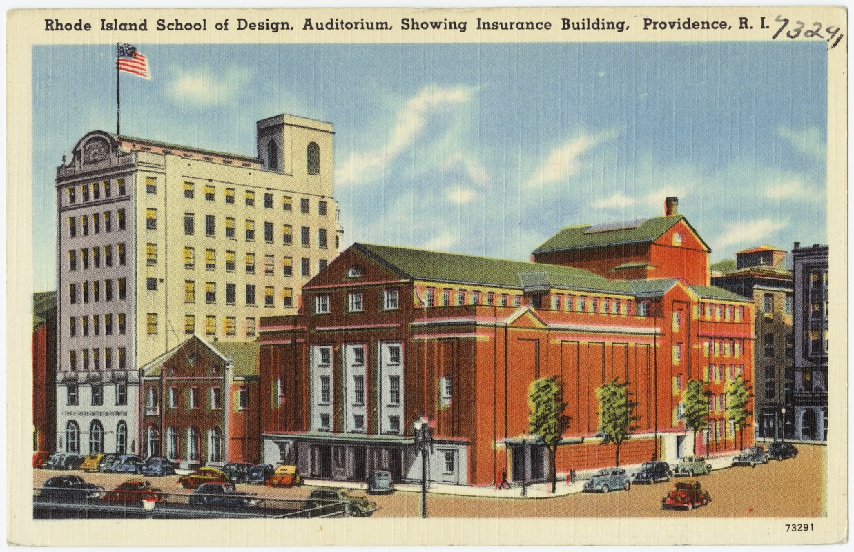 rhode island school of design, auditorium, showing insurance