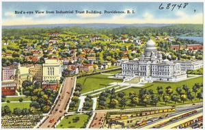 Bird's-eye view from Industrial Trust building, Providence, R.I.