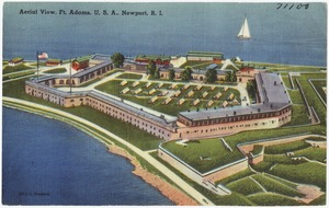 Aerial View, Ft. Adams, U. S. A., Newport, R.I.
