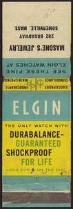 Elgin, the only watch with durabalance - guaranteed shockproof for life