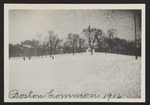 Boston Common, 1916