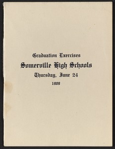 Graduation exercises, Somerville High Schools