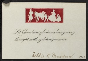 Let Christmas gladness bring every thought with golden promise