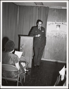 Briefing at Headquarters 32nd Air Division