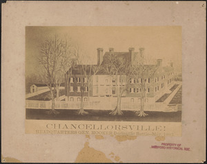 Chancellorsville! Headquarters General Hooker, during the battle - May 1863
