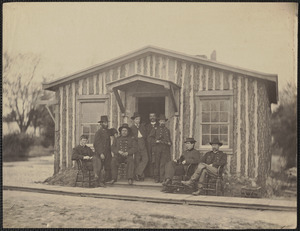 Part of General Grant's staff at City Point Virginia